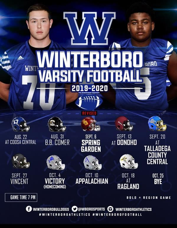 WHS Football Schedule