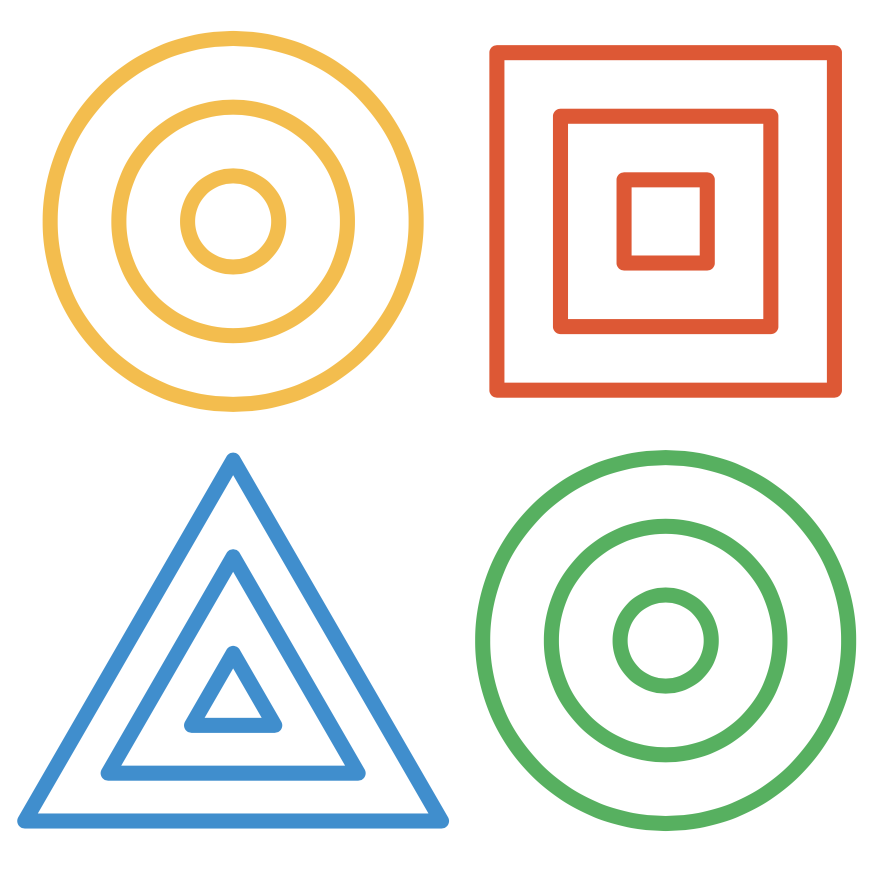 Dynamic Learning Project Logo that includes a yellow and green circle, red square, blue triangle.