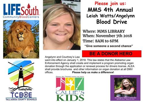 MMS 4th Annual Blood Drive