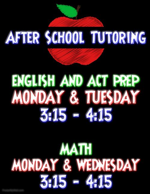 WHS After School Tutoring Information