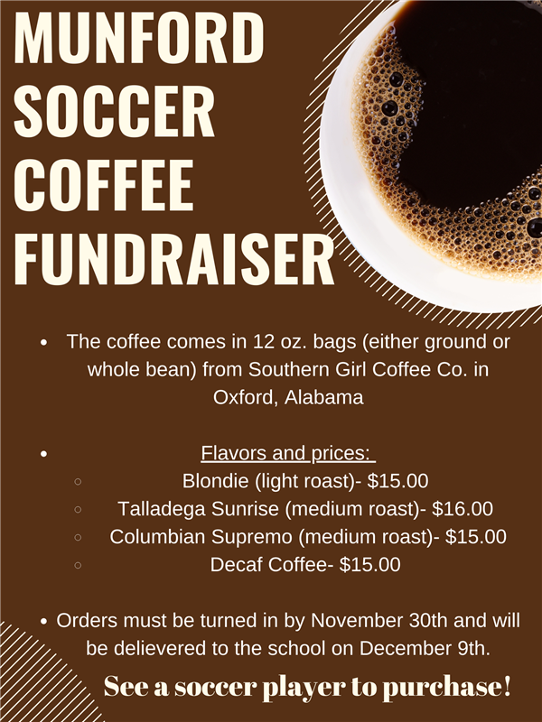 Soccer Coffee Fundraiser 2020