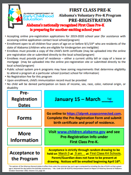 Pre-K Registration Open!