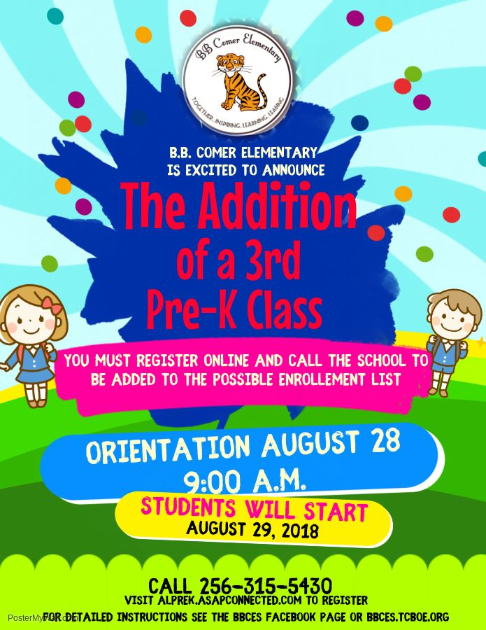 Pre-K Registration Flyer