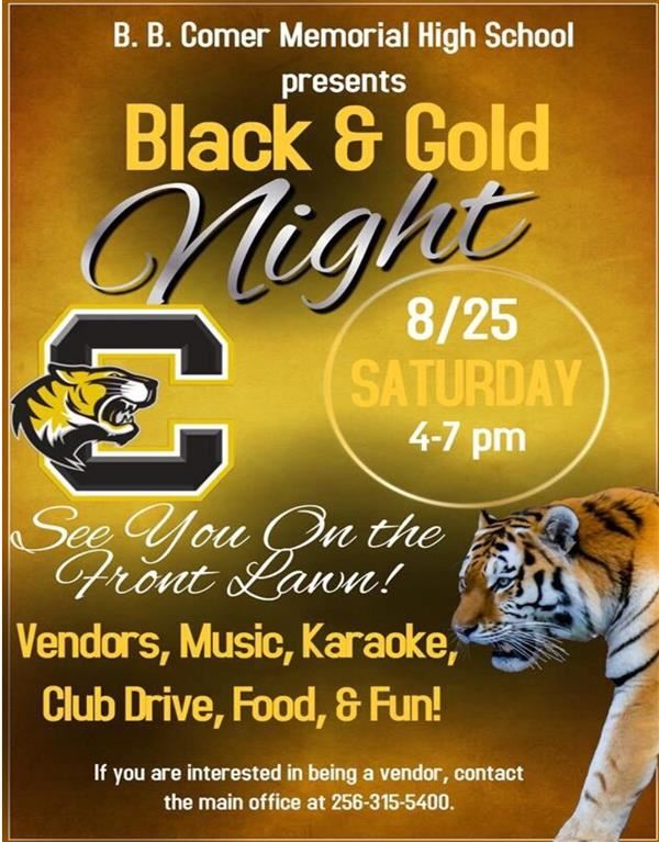 Black and Gold Night